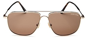 Tom Ford Men's Brow Bar Aviator Sunglasses, 58mm