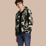 Burberry Hooded Abstract Floral Print Showerproof Jacket