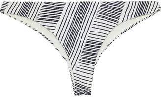 Vix Paula Hermanny Eriko Printed Brushed Low-rise Bikini Briefs