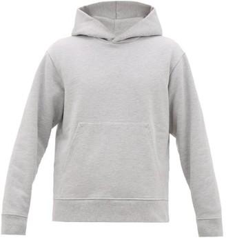 Acne Studios Forres Logo-label Cotton-blend Hooded Sweatshirt - Light Grey