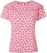P.A.R.O.S.H. frilled star print blouse - women - Silk/Spandex/Elastane - S