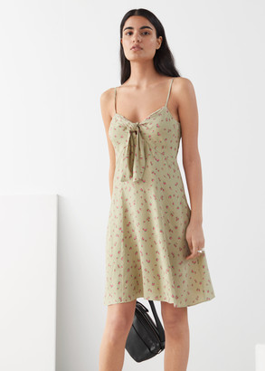 And other stories Front Tie Mini Dress