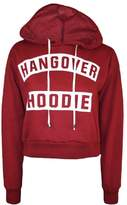 Fashion4Life Womens Hangover Print Pullover Hoody Sweatshirt Crop Top
