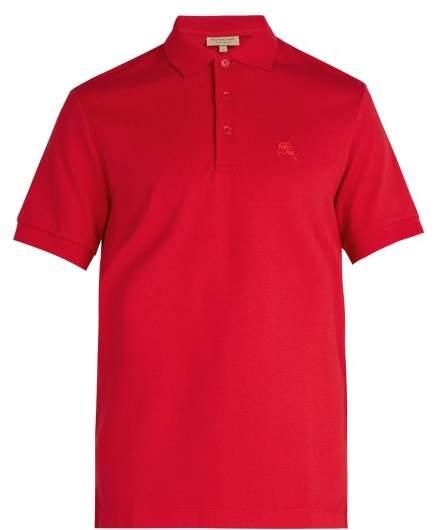 Burberry Oxford Cotton Pique Polo Shirt - Mens - Red