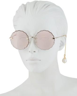 Chloé Rosie Pearl 60MM Round Sunglasses