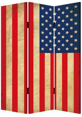 Screen Gems American Flag 3-panel Room Divider 6 ft. Tall