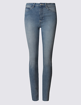 M&S Collection Cut Hem Mid Rise Super Skinny Jeans