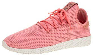 adidas Pharrell Williams x Pink Cotton Knit PW Tennis Hu Sneakers Size 46