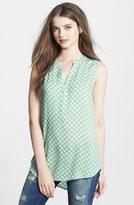 Sandra Ingrish Sleeveless Dot Print Blouse