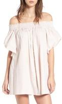 Faithfull The Brand Women's Deia Stripe Off The Shoulder Dress