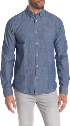 Scotch & Soda Front Button Long Sleeve Regular Fit Shirt