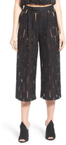 KENDALL + KYLIE Kendall & Kylie Grid Lace High Rise Cropped Pant