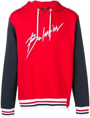 Balmain signature logo hoodie