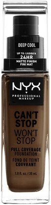 NYX Can't Stop Won't Stop Full Coverage Foundation - Deep Cool
