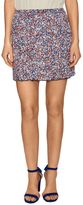 BCBGeneration Print And Pleated Mini Skirt