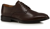 Jeff Banks Brown Leather Derby Shoes