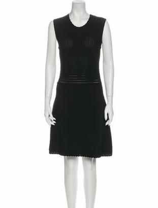 Dolce & Gabbana Crew Neck Mini Dress w/ Tags Black