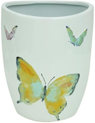 Bacova Watercolor Garden Wastebasket