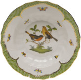Herend Rothschild Bird Green Motif 09 Rim Soup Bowl