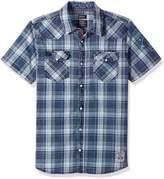 Buffalo David Bitton Men's Simila Short Sleeve Fashion Plaid Button Down Shirt