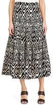 Lauren Ralph Lauren Tiered Geometric Printed Cotton Skirt