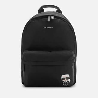 Karl Lagerfeld Paris Women's K/Ikonik Nylon Backpack - Black
