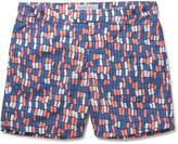 Frescobol Carioca - Dindi Mid-Length Printed Swim Shorts
