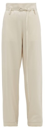 Marni Tie-waist Flannel Trousers - Ivory