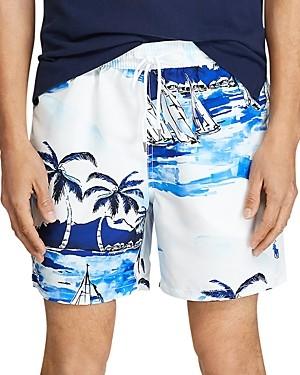 Polo Ralph Lauren Sailboat Tropical Print Swim Trunks