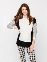 A Pea in the Pod Colorblock Maternity Sweater