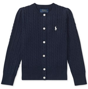 Polo Ralph Lauren Toddler Girls Cable Cardigan