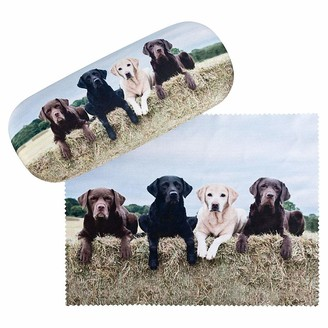 VON LILIENFELD Labrador Retriever Glasses Case Present Cleaning Cloth Spectacle Cases Lightweight Stable Dog Animal