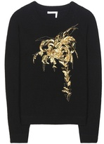Chloé Embellished wool and cashmere sweater