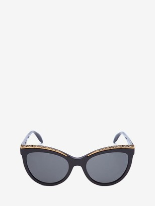 Alexander McQueen Cat-Eye Jeweled Frame