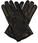 Bottega Veneta Intrecciato-trimmed Leather Gloves