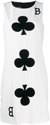 Moschino B of Clubs midi dress