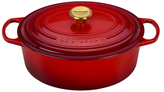 Le Creuset Limited Edition Signature Oval Dutch Oven with Gold Knob
