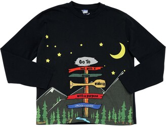 Jacob Cohen CAMPING PRINT L/S COTTON JERSEY T-SHIRT