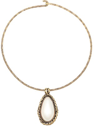 Alexander McQueen Choker necklace with faux pearl