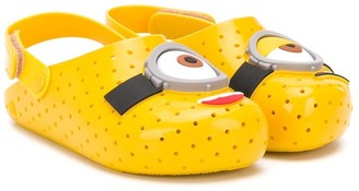 Mini Melissa Minions perforated sandals