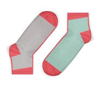 Unisock Contrast Ankle Socks In Mint
