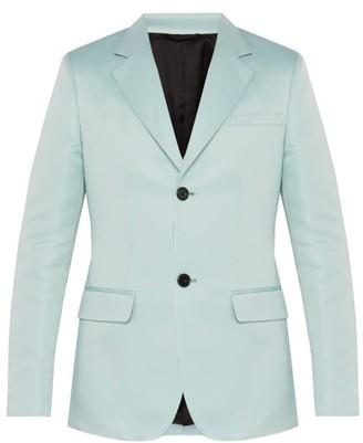 Raf Simons Slim-fit Satin Blazer - Mens - Light Blue
