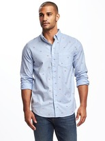 Old Navy Regular-Fit Summer-Weight Oxford Shirt For Men