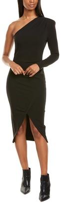 Nicole Miller One-Shoulder Sheath Dress