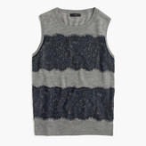 J.Crew Lightweight wool Jackie sweater shell with lace