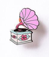 Pink Retro Record Player Enamel Pin