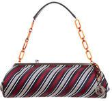 Lanvin Striped Woven Shoulder Bag