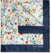 Paul Smith Printed Silk Pocket Square
