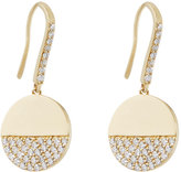 Lana 14k Diamond Illusion Disc Drop Earrings