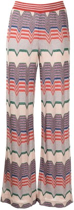 Missoni Pre-Owned Metallic Threading Flared Trousers